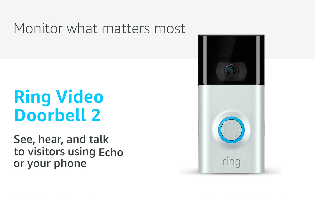 Ring Video Doorbell 2: See, hear, and talk to visitors using Echo Show