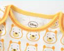 Tagless label to protect your baby's delicate skin; Lap-shoulder neck opening