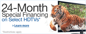 Free 24-Month Financing on Select HDTVs