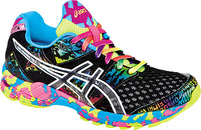 Bright Multi Colored Womens Running Shoes