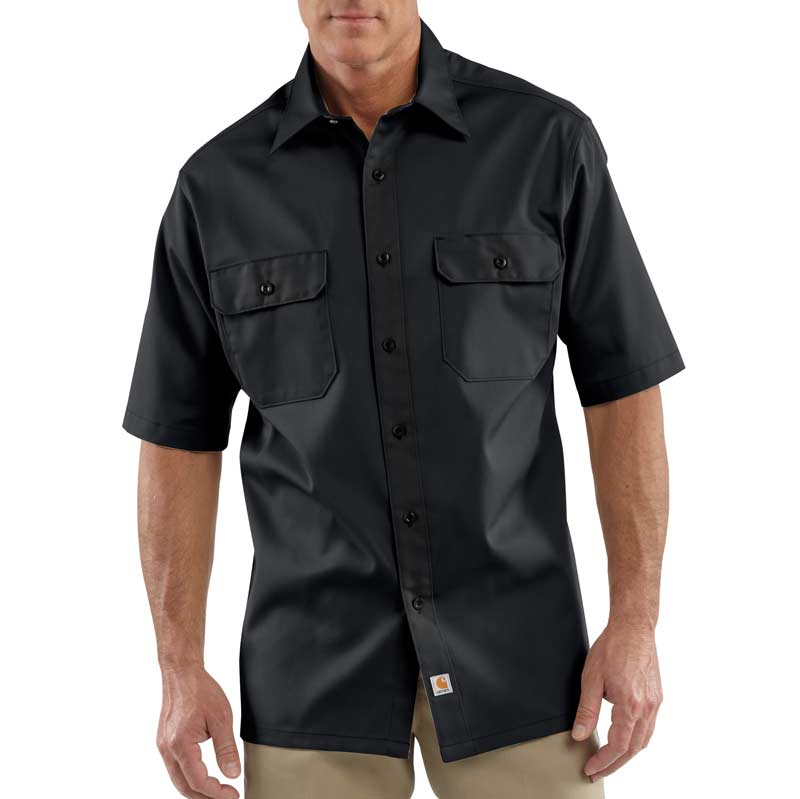 e814c28bfbb Carhartt Men s Twill Short Sleeve Work Shirt Button Front at Amazon ...
