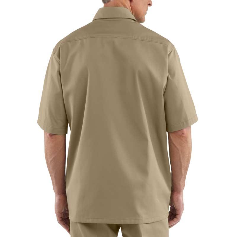 e26b85f474f Carhartt Men s Twill Short Sleeve Work Shirt Button Front at Amazon ...