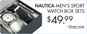 Nautica Men's Sport Watch Box Sets $49.99