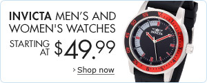 Invicta Men's and Women's Watches Starting at $49.99
