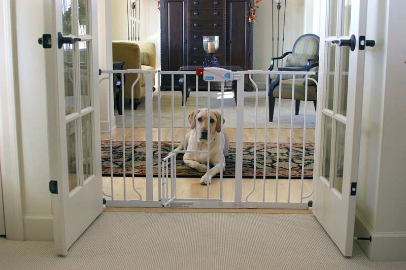 how to stop dog getting through baby gate