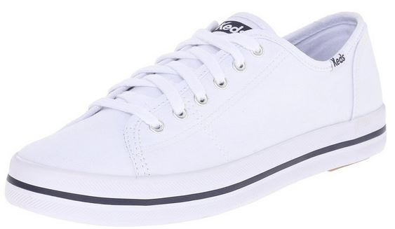 white leather ladies keds sneakers
