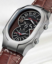 Signature: Recognizable on wrists everywhere, these iconic cases feature dual time zone dials, stainless steel and tonal cases, mother of pearl dial treatments, and a beautiful assortment of exotic interchangeable straps.