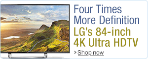 Four Times More Definition with LG's 84-inch 4K Ultra HDTV