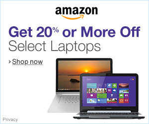 Get 20% off Laptops