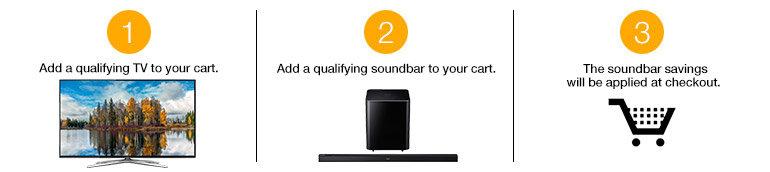 $100 Off a Select Samsung Soundbar with Select Samsung TV Purchase