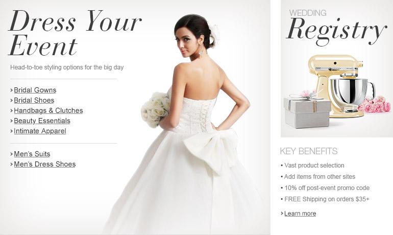 Wedding Apparel and Wedding Registry