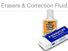 Erasers & Correction Supplies