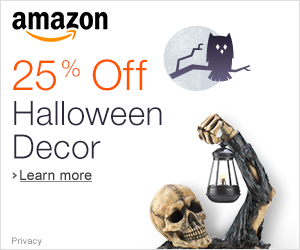 25% Off Halloween Decor
