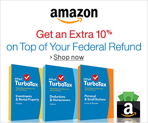 Shop Amazon - TurboTax - Get 10% more on Top of Your Federal Refund