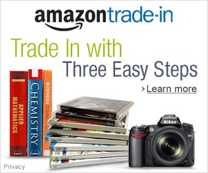 Trade In Your Electronics, Books, DVDs, CDs, video games, electronics, and books.