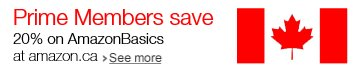 Prime Members save 20% on AmazonBasics at Amazon.ca