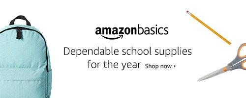 School Supplies from Amazon Basics