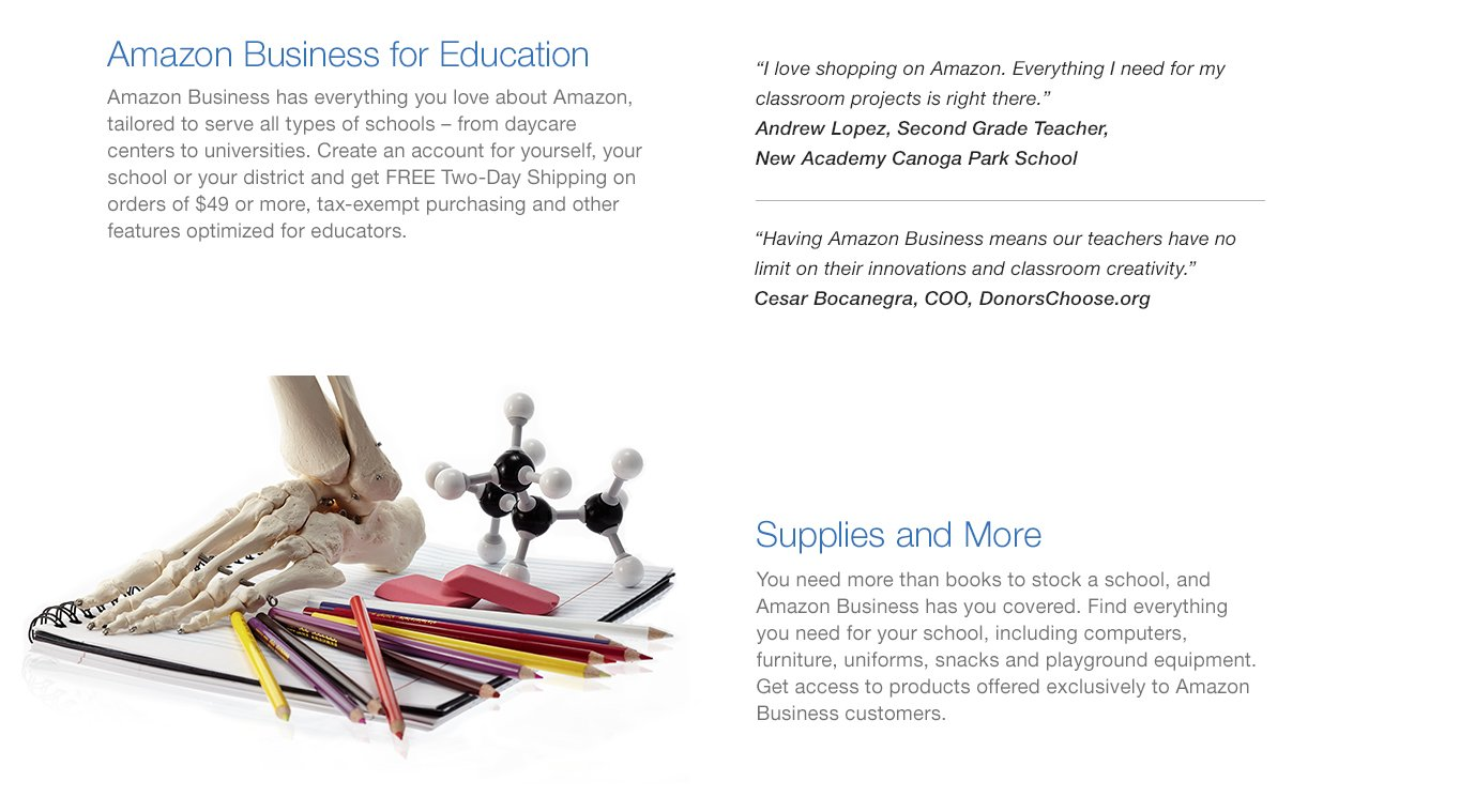 Amazon Business for Education