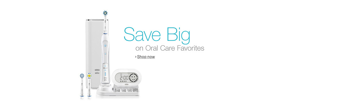 save big on Oral-B Electric Toothbrushes