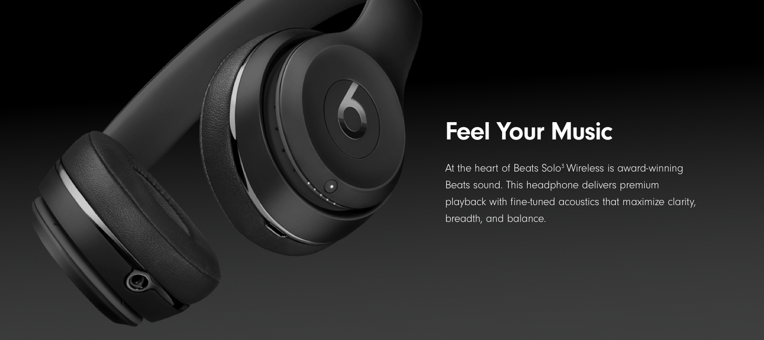 Amazoncom Beats Solo3 Wireless On Ear Headphones The Beats