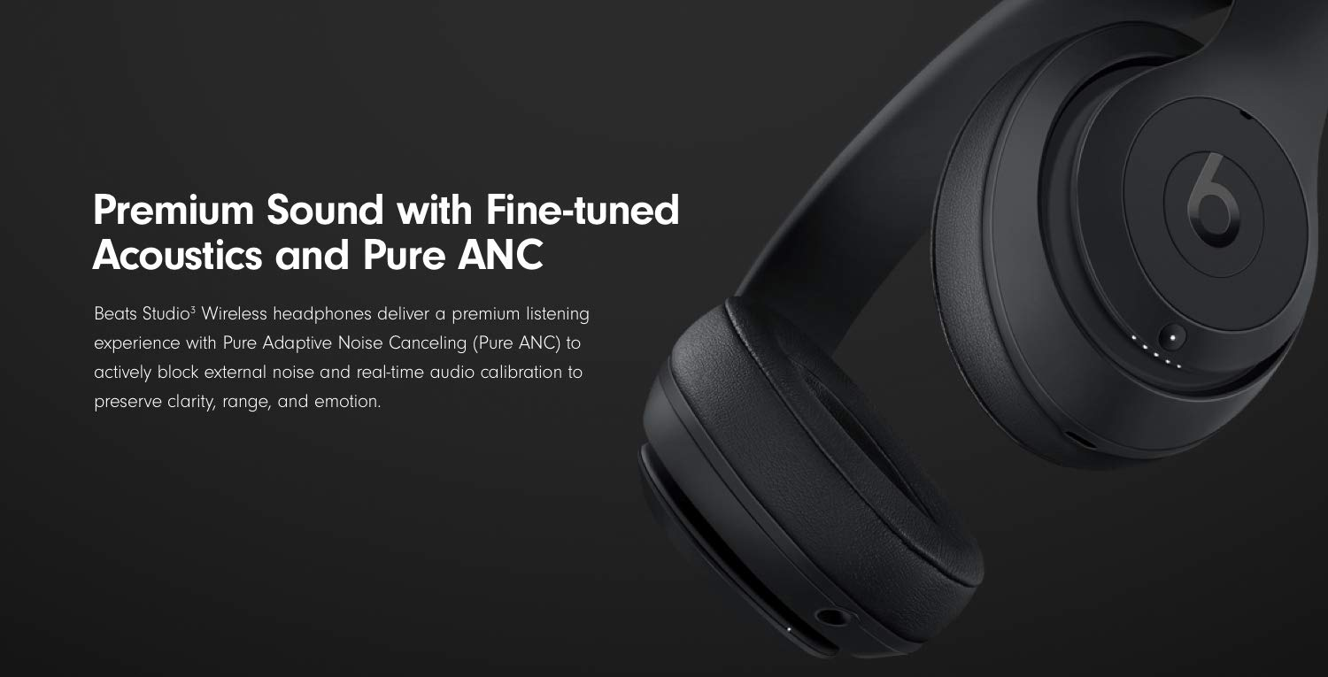 de06da8c489 Beats Studio3 Wireless Skyline Collection. Premium Sound with Fine-tuned  acoustics and Pure ANC