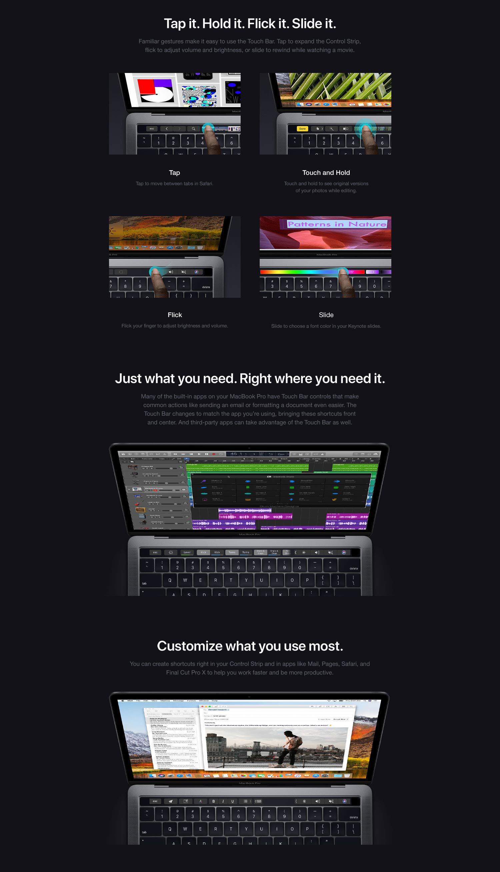 Apple MacBook Pro (13-inch Retina, Touch Bar, 2 3GHz Quad-Core Intel Core  i5, 8GB RAM, 256GB SSD) - Space Gray (Previous Model)