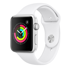 quality design ce8d6 55c6a Amazon.com: Apple Watch Series 4 (GPS, 44mm) - Silver Aluminium Case ...