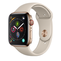quality design 07fe7 2ed44 Amazon.com: Apple Watch Series 4 (GPS, 44mm) - Silver Aluminium Case ...