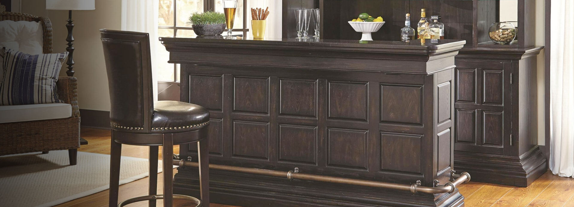 Wet bar furniture for home roselawnlutheran Home wine bar furniture