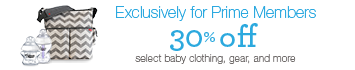 Prime Exclusive: 30% off select baby clothing, gear, and more