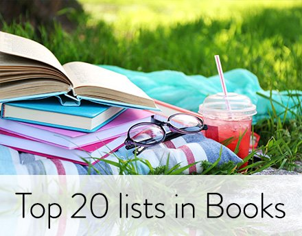 Top 20 lists in Books