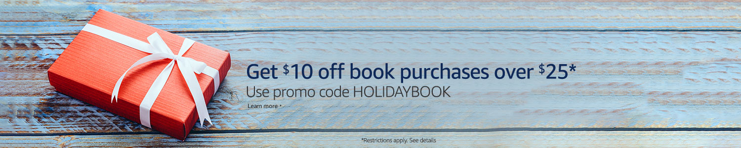 Get $10 off book purchases over $25