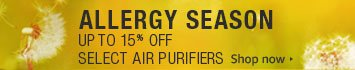 Allergy Season Air Purifier Promo