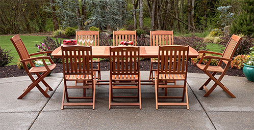 amazon teak outdoor dining set. patio furniture dining sets amazon teak outdoor set