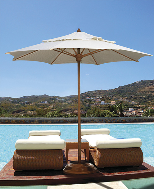 Patio furniture accessories for Poolside table and chairs