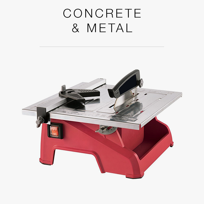 Concrete and metal tools