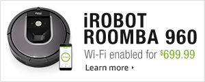 Introducing the connected iRobot Roomba 960