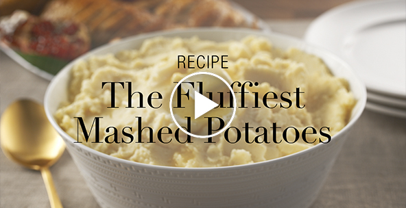 THE FLUFFIEST MASHED POTATOES