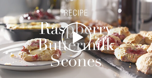 RASPBERRY BUTTERMILK SCONES