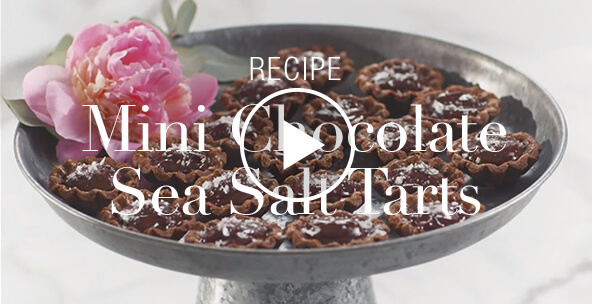 MINI CHOCOLATE SEA SALT TARTS