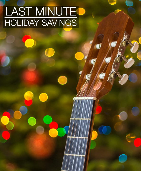 Last Minute Holiday Savings on Select Musical Instruments