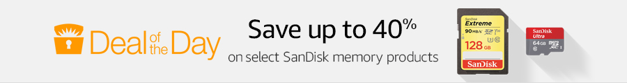 Up to 40% off select SanDisk memory products