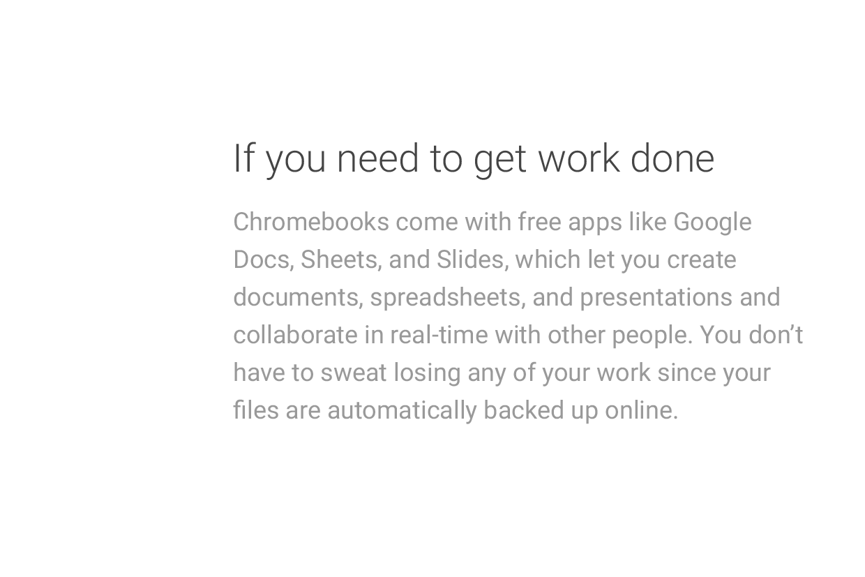 If you need to get work done