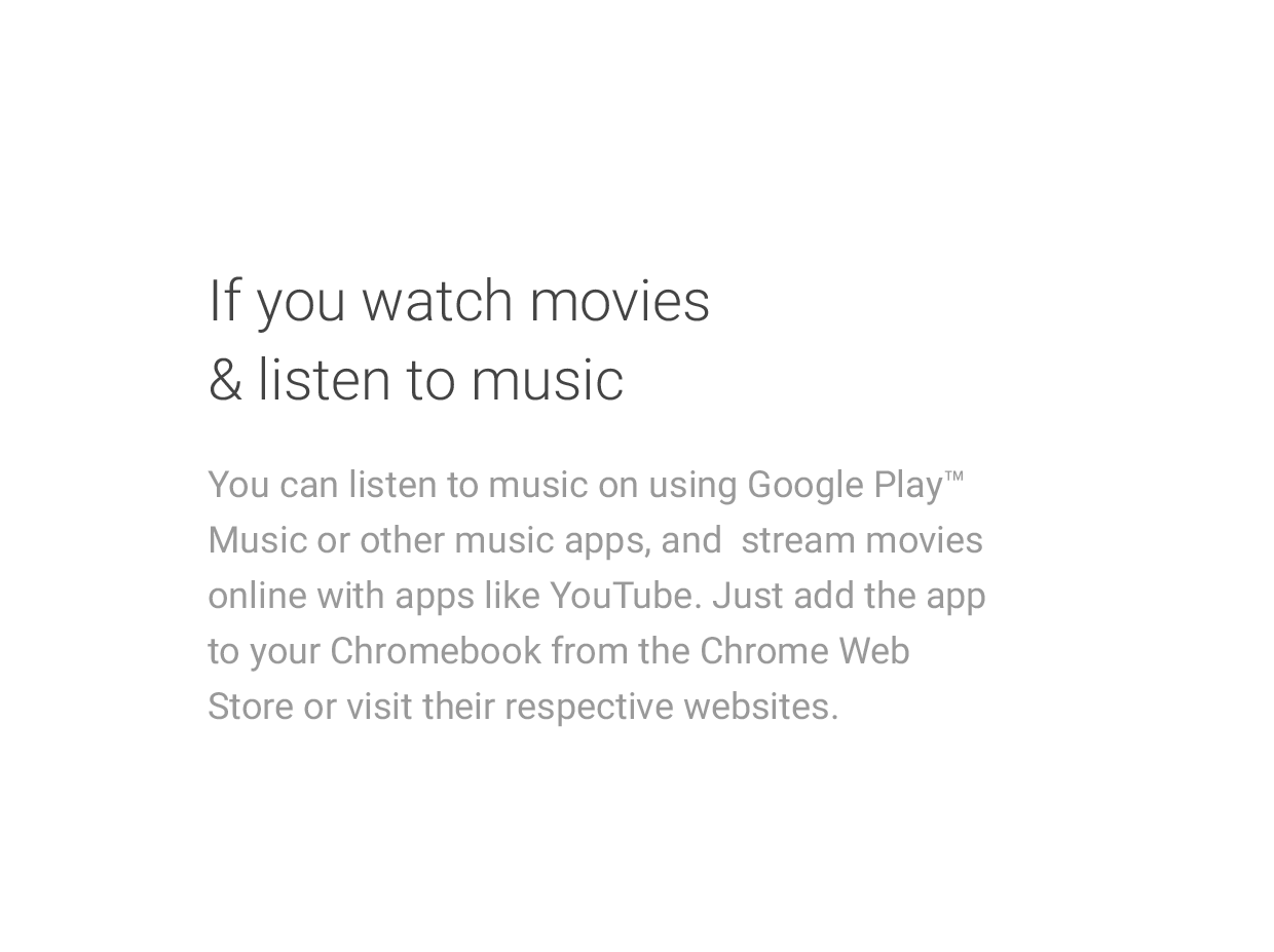 If you watch movies