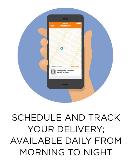 Schedule and track your delivery