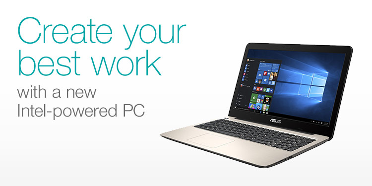 Create your best work with an Intel-powered PC