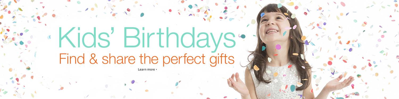 Kids' Birthdays header