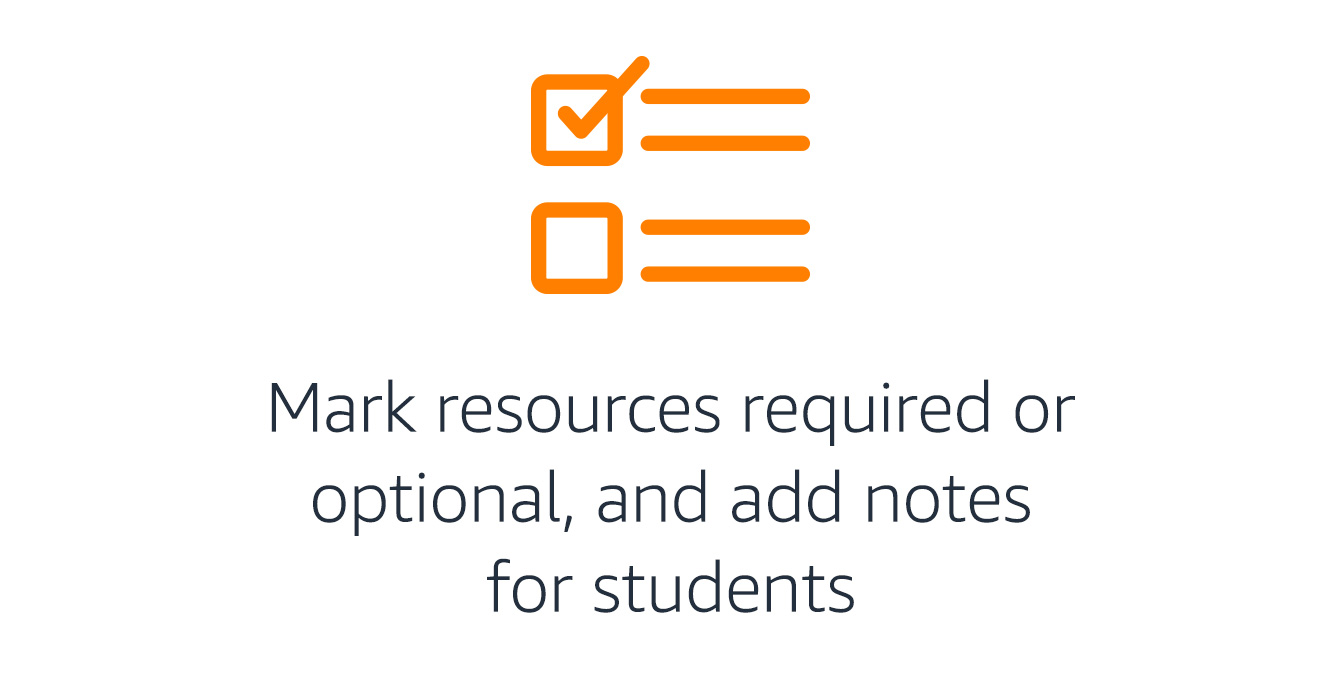 Mark resources required or optional