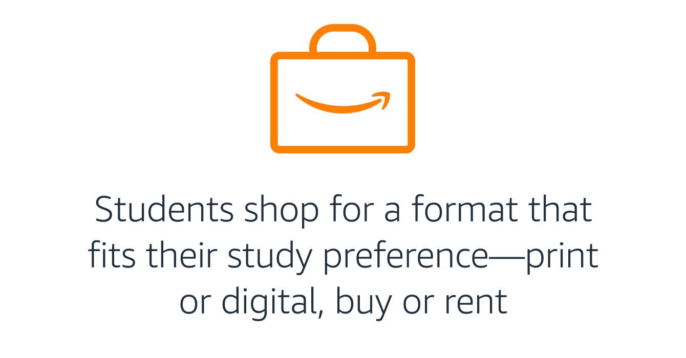 Students shop: print or digital, buy or rent