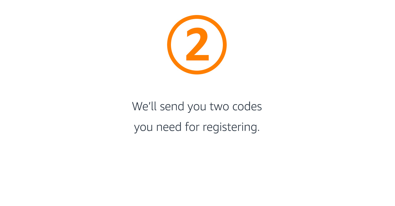 Codes for registering